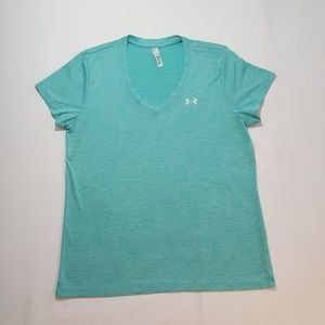 Under Armour dryfit teal womens shirt